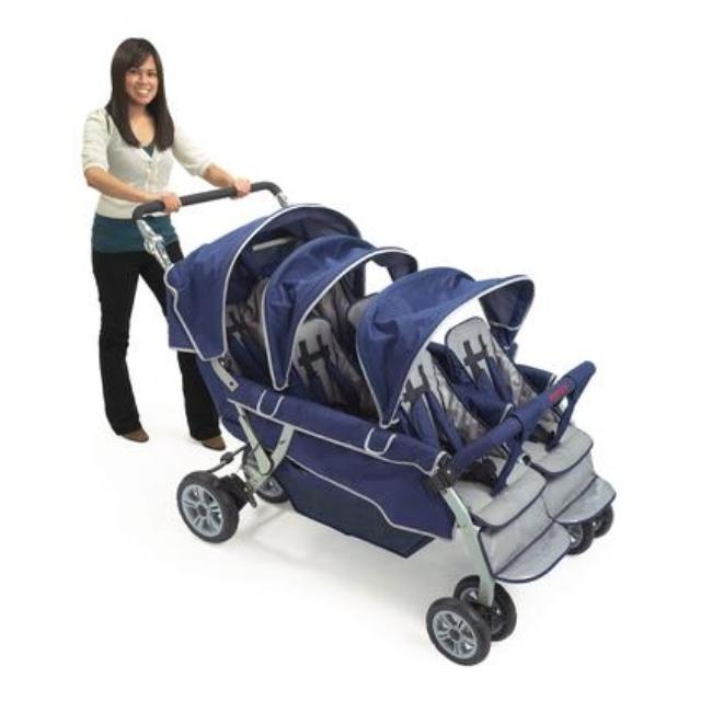 6 Passenger Folding Commercial Stroller Child Care Supplies