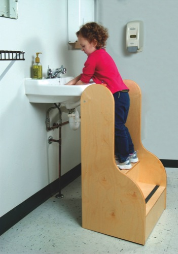 kid step stool tall 3