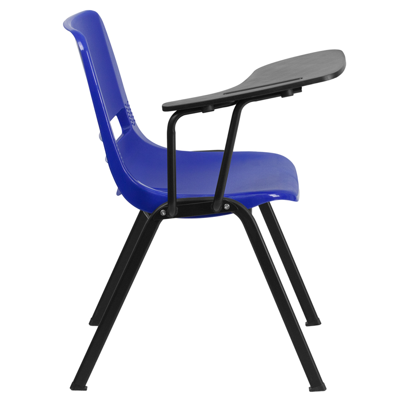 Etonnant Blue Ergonomic Shell Chair With Right Handed Flip Up Tablet Arm