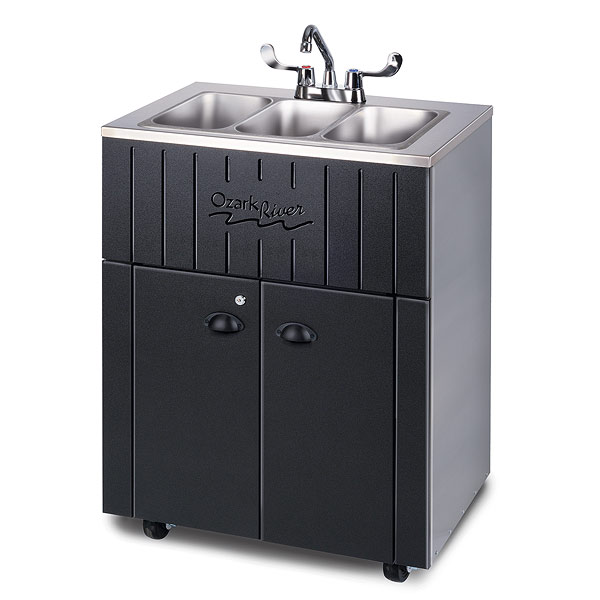 Ozark River Nature Premier Outdoor Portable Sink Triple